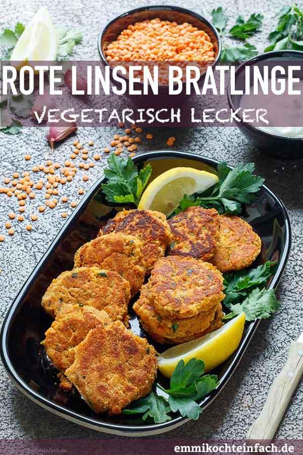 Vegetarische Linsenbratlinge - www.emmikochteinfach.de