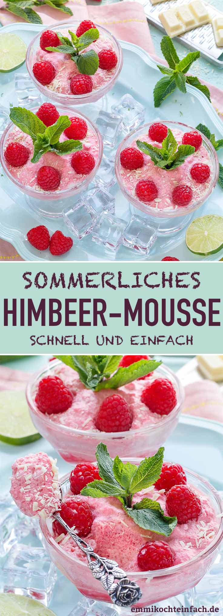 Sommerliches Himbeer Mousse - www.emmikochteinfach.de