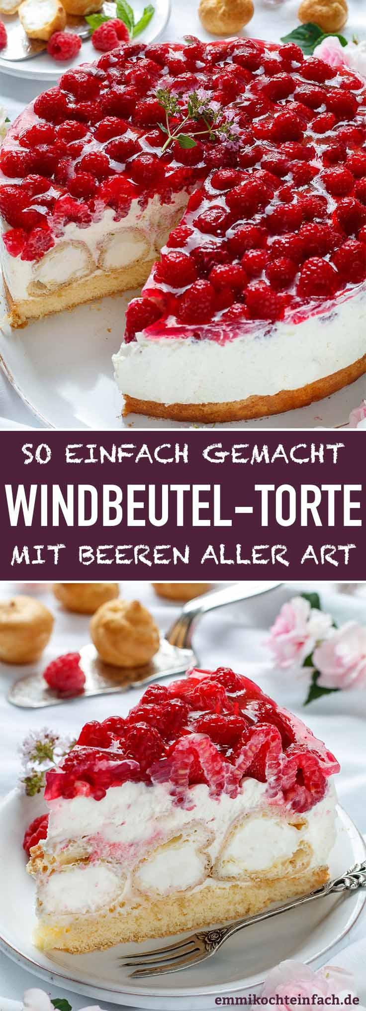 Windbeuteltorte mit Beeren - www.emmikochteinfach.de
