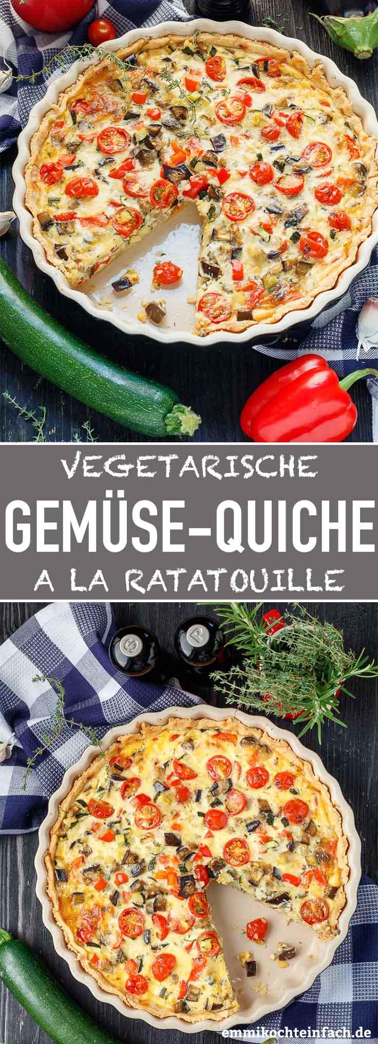 Gemüsequiche ala Ratatouille - www.emmikochteinfach.de
