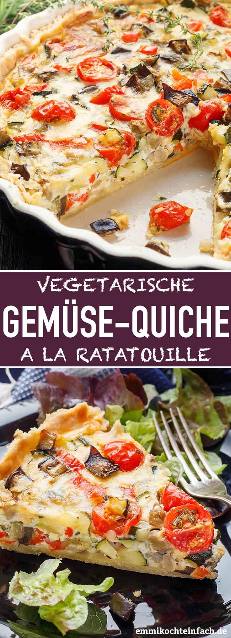 Gemüse-Quiche ala Ratatouille - www.emmikochteinfach.de