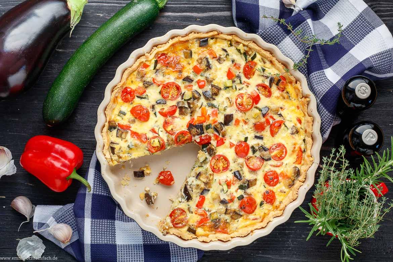 Sommerliche Gemüse-Quiche - www.emmikochteinfach.de
