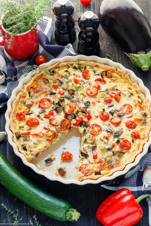 Vegetarische Gemüsequiche ala Ratatouille - www.emmikochteinfach.de