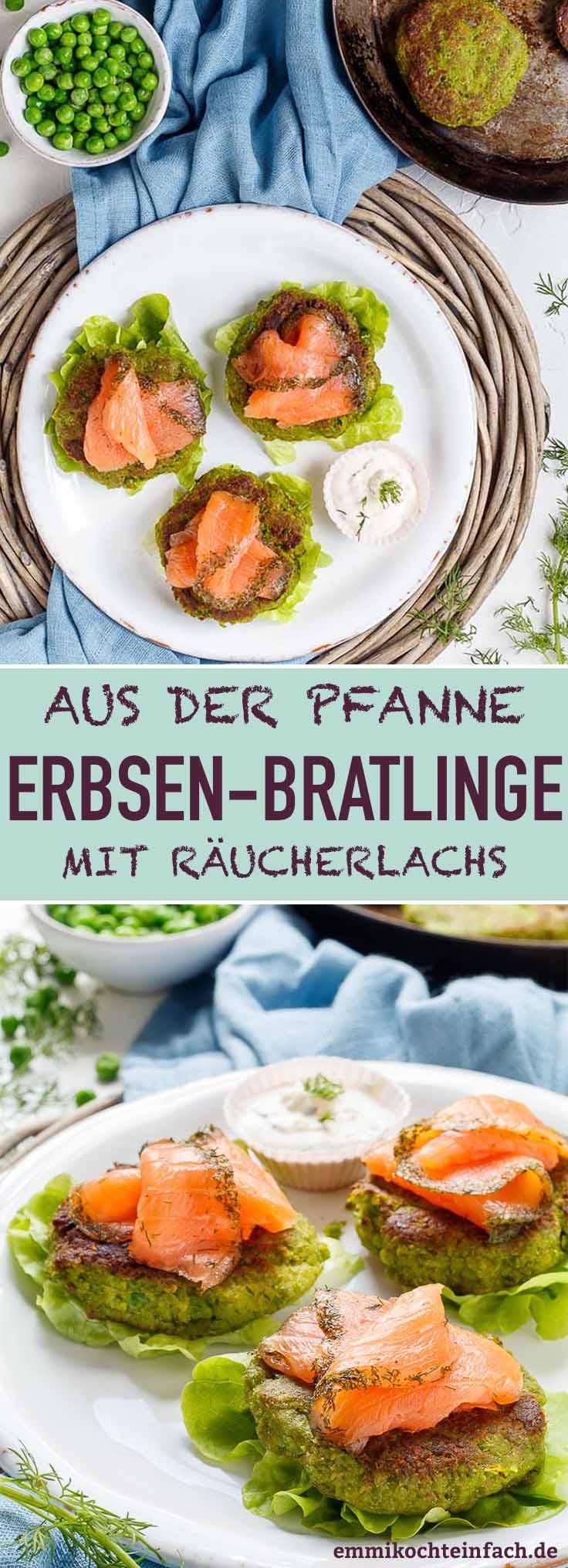 Erbsen Bratlinge mit Räucherlachs - www.emmikochteinfach.de