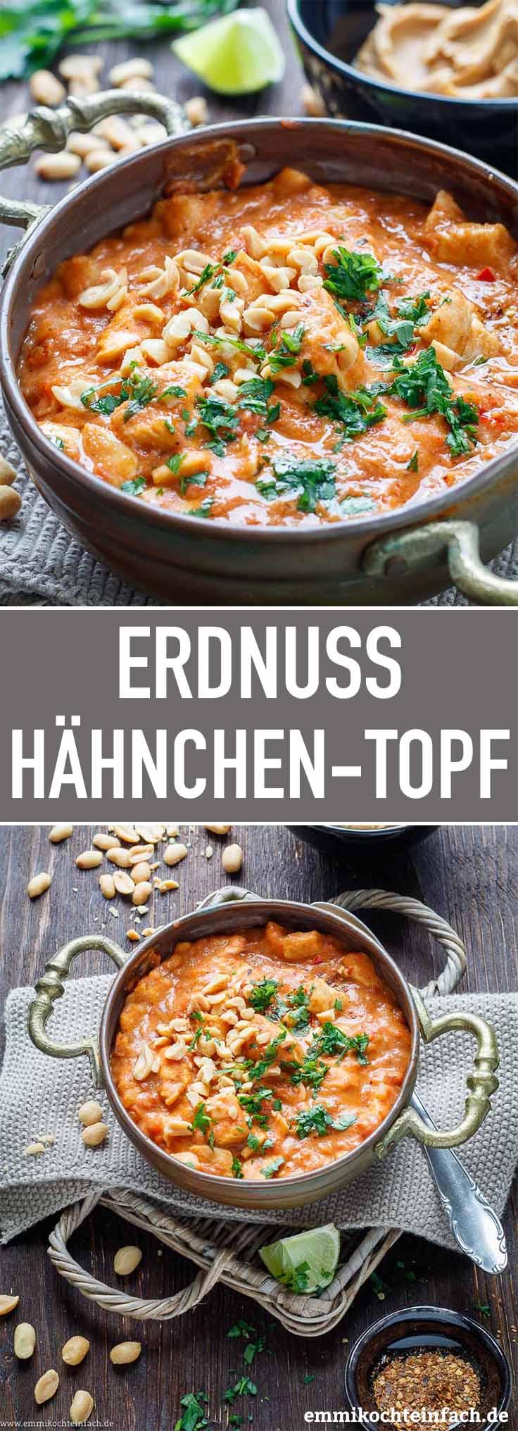Erdnuss Hähnchen Topf - www.emmikochteinfach.de