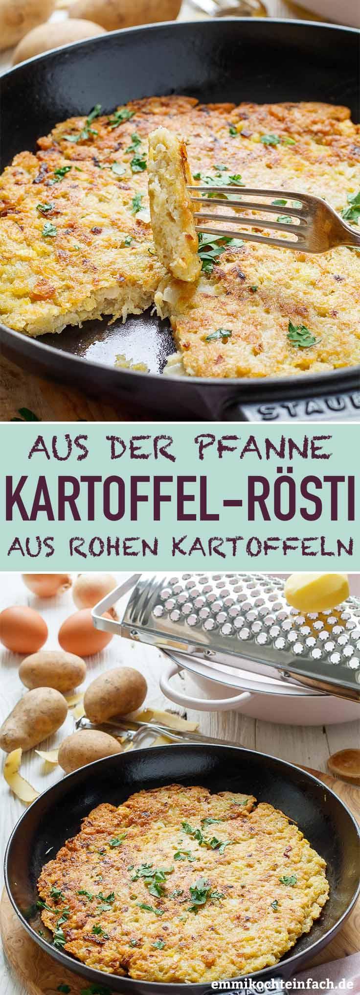 Kartoffelrösti aus rohen Kartoffeln - www.emmikochteinfach.de