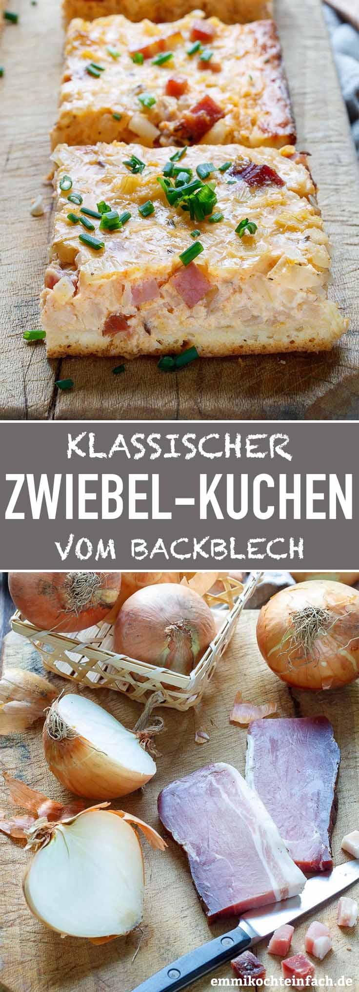 Klassischer Zwiebelkuchen vom Blech - www.emmikochteinfach.de