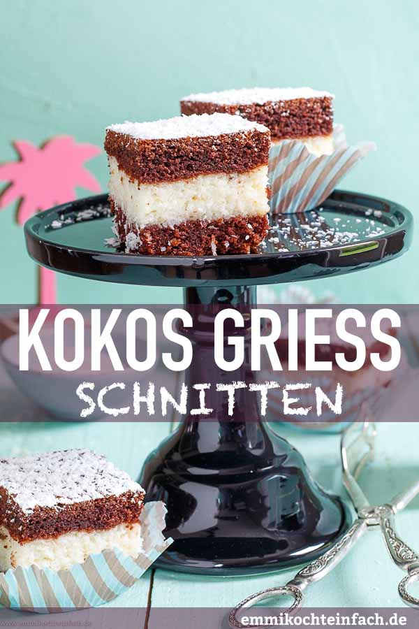 Kokos Griess Schnitten - www.emmikochteinfach.de