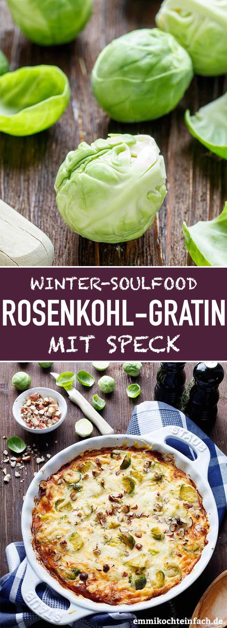 Rosenkohl Gratin - gesund und lecker - www.emmikochteinfach.de