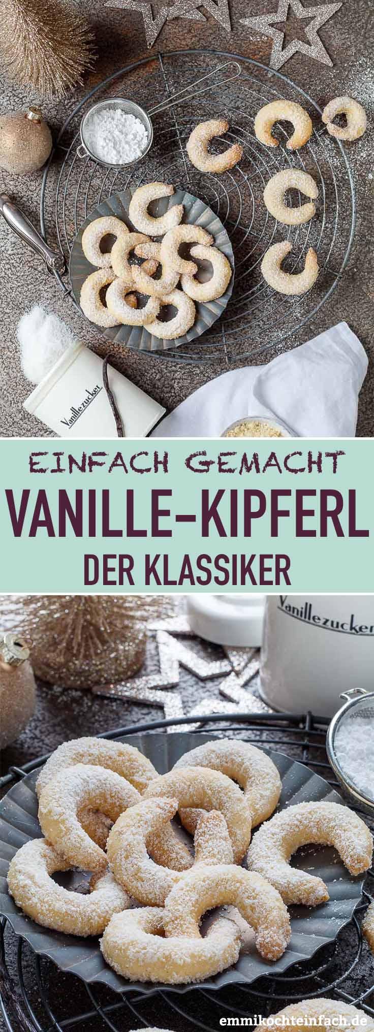 Einfache Vanillekipferl - der Klassiker - www.emmikochteinfach.de