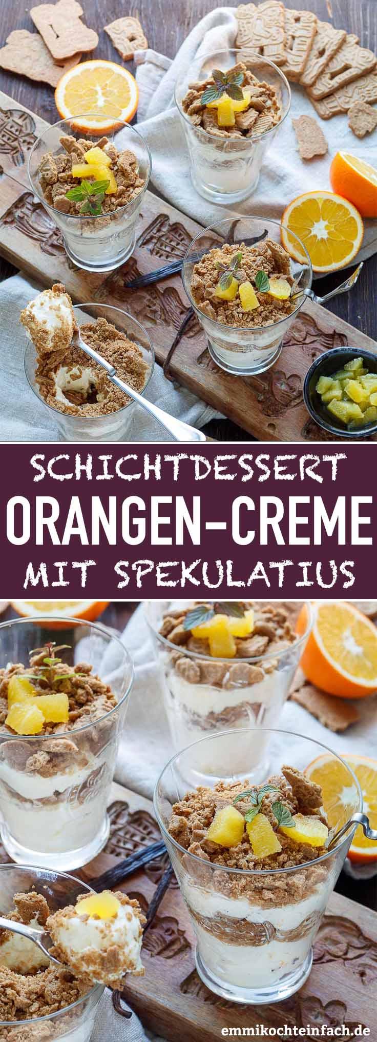 Orangencreme Dessert mit Spekulatius - www.emmikochteinfach.de