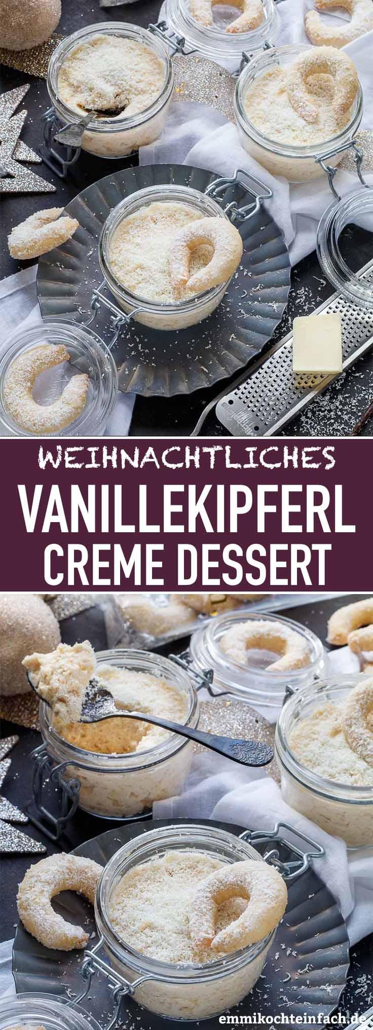 Vanillekipferl Creme Dessert - www.emmikochteinfach.de