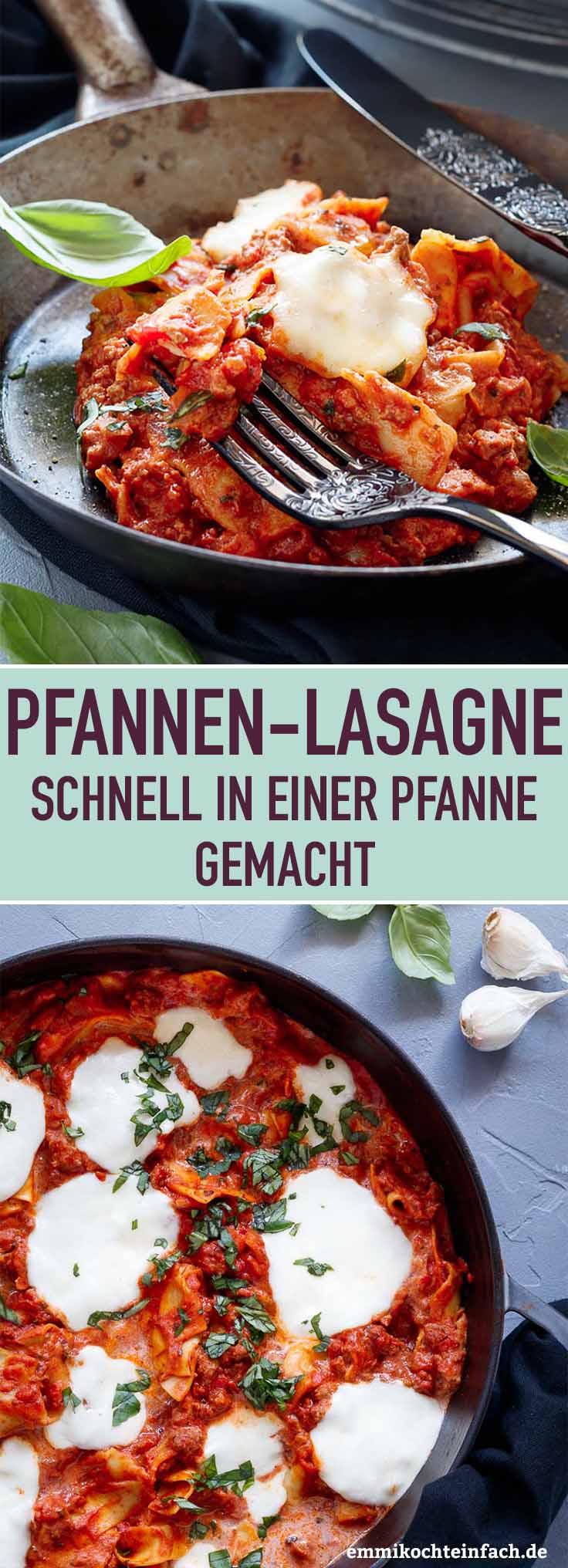 Schnelle Pfannen-Lasagne - www.emmikochteinfach.de