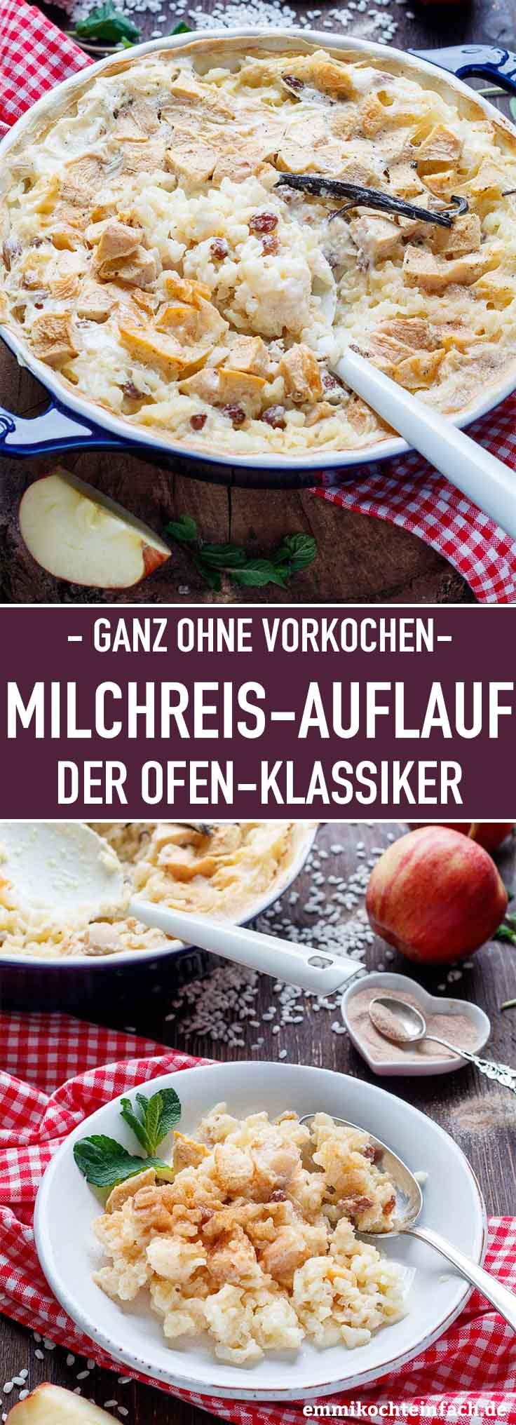 Milchreis Auflauf mit Apfel - www.emmikochteinfach.de
