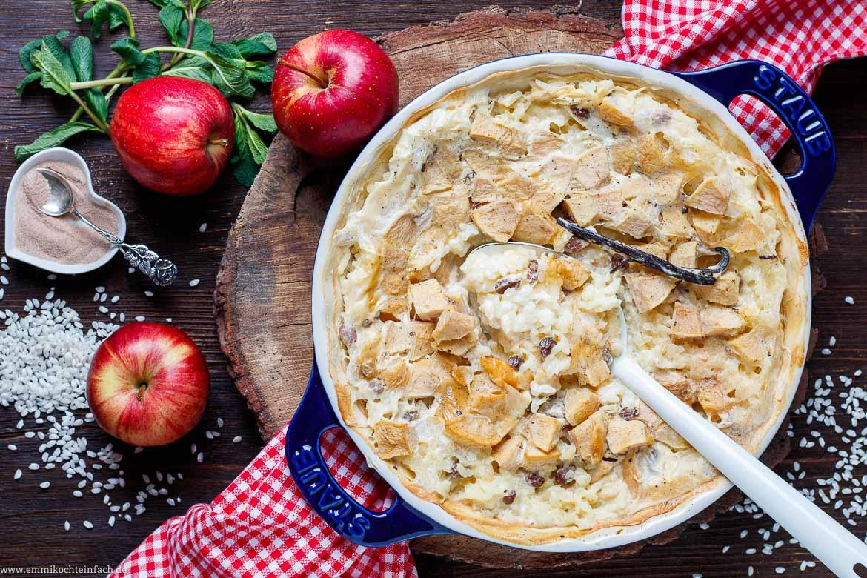 Milchreisauflauf aus dem Ofen - www.emmikochteinfach.de