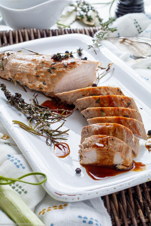 Balsamico Schweinefilet mit Kräuter - www.emmikochteinfach.de